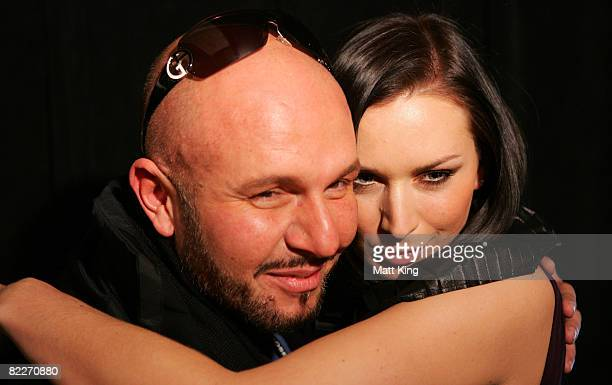 Designer Alex Perry and Model Mink Sadowski backstage ahead of the Fashion Targets Breast Cancer with Alex Perry and IMG Fashion gala event...