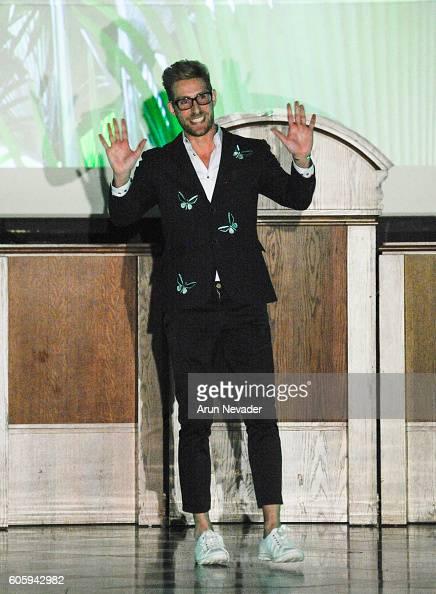 Designer Alex Vinash walks the runway at the Alex Vinash runway show during New York Fashion Week September 2016 at The Church of the Holy Apostles...