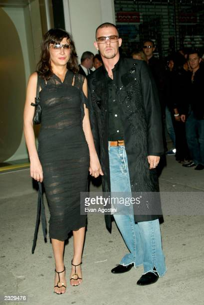 Designer Alexander McQueen and Annabelle Neilson arriving at the Alexander McQueen New York store opening on 14th Street in New York City September 5...