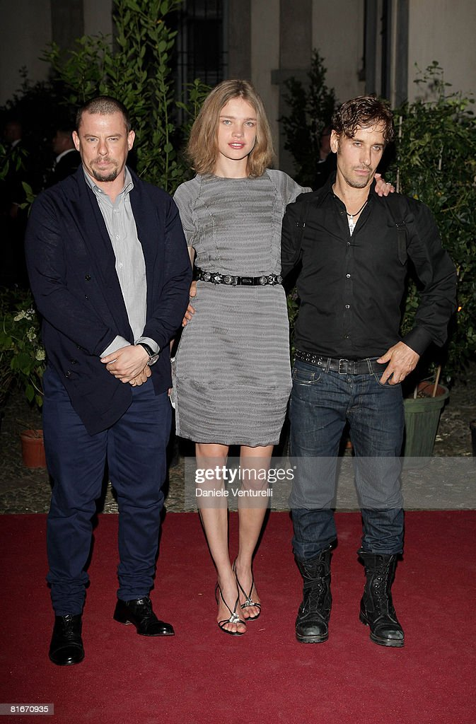 Designer Alexander McQueen model Natalia Vodianova and photographer Steven Klein attend Uomo Vogue 40th Anniversary Celebration Party as part of...