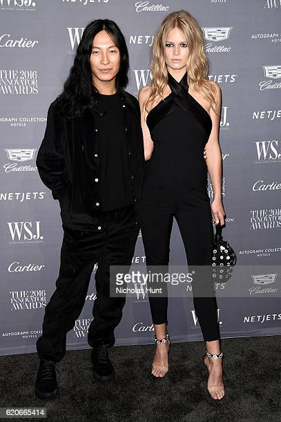 Designer Alexander Wang and Model Anna Ewers attend the WSJ Magazine 2016 Innovator Awards at Museum of Modern Art on November 2 2016 in New York City