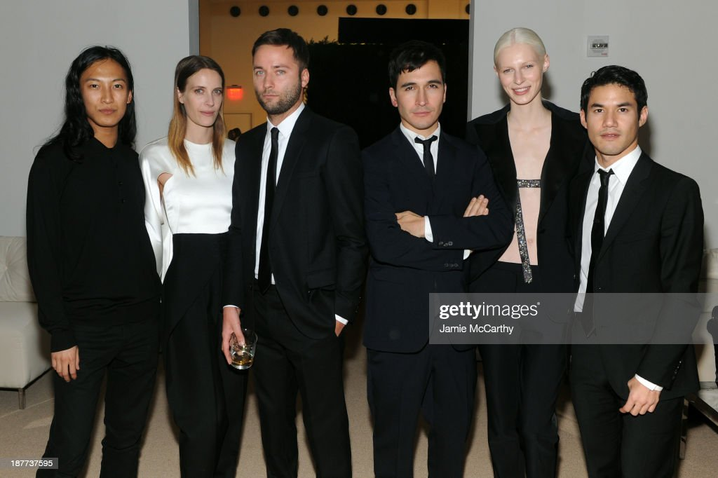 Designer Alexander Wang, Vanessa Traina Snow, Proenza Schouler's <a gi-track='captionPersonalityLinkClicked' href=/galleries/search?phrase=Jack+McCollough&family=editorial&specificpeople=234911 ng-click='$event.stopPropagation()'>Jack McCollough</a> and <a gi-track='captionPersonalityLinkClicked' href=/galleries/search?phrase=Lazaro+Hernandez&family=editorial&specificpeople=242897 ng-click='$event.stopPropagation()'>Lazaro Hernandez</a>, model Julia Nobis and designer <a gi-track='captionPersonalityLinkClicked' href=/galleries/search?phrase=Joseph+Altuzarra+-+Fashion+Designer&family=editorial&specificpeople=5710924 ng-click='$event.stopPropagation()'>Joseph Altuzarra</a> attend CFDA and Vogue 2013 Fashion Fund Finalists Celebration at Spring Studios on November 11, 2013 in New York City.