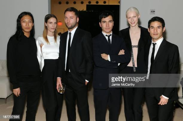 Designer Alexander Wang Vanessa Traina Snow Proenza Schouler's Jack McCollough and Lazaro Hernandez model Julia Nobis and designer Joseph Altuzarra...