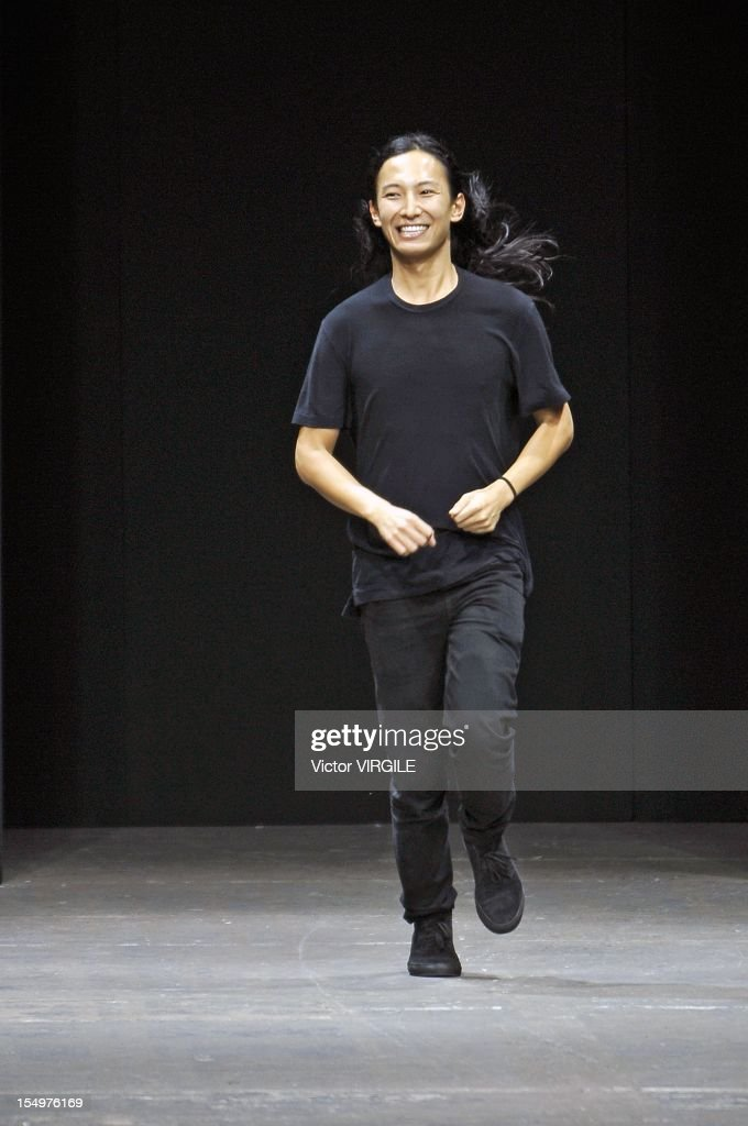 Designer Alexander Wang walks the runway at the Alexander Wang Spring 2013 fashion show during Mercedes-Benz Fashion Week at Pier 94 on September 8, 2012 in New York City.