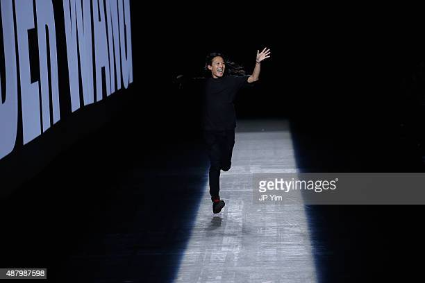 Designer Alexander Wang walks the runway at the Alexander Wang Spring 2016 fashion show during New York Fashion Week at Pier 94 on September 12 2015...
