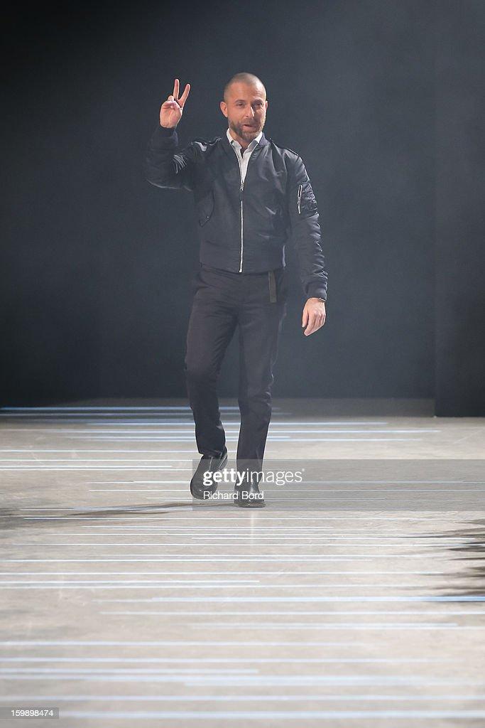 Designer Alexandre Vauthier walks the runway during the Alexandre Vauthier Spring/Summer 2013 HauteCouture show as part of Paris Fashion Week at...