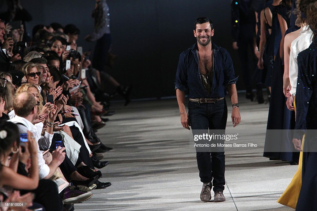 Designer Alexis Mabille walks the runway during Alexis Mabille show as part of the Paris Fashion Week Womenswear Spring/Summer 2014 on September 25, 2013 in Paris, France.