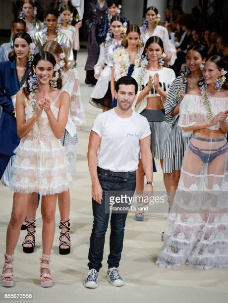 Designer Alexis Mabille walks the runway during the Alexis Mabille show as part of the Paris Fashion Week Womenswear Spring/Summer 2018 on September...