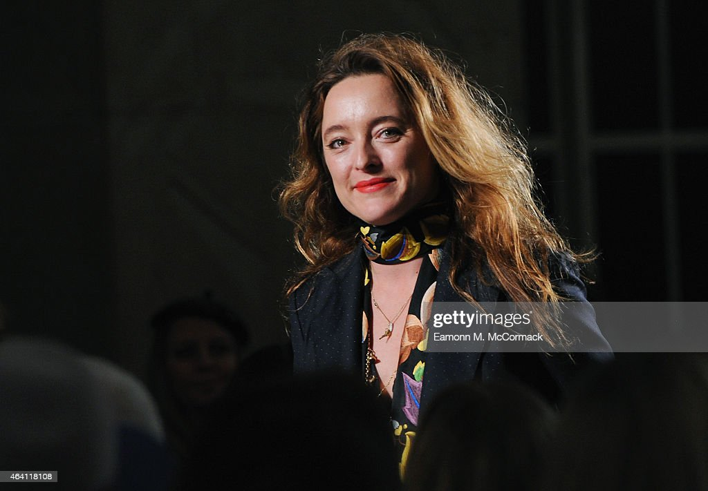 Designer <a gi-track='captionPersonalityLinkClicked' href=/galleries/search?phrase=Alice+Temperley&family=editorial&specificpeople=213399 ng-click='$event.stopPropagation()'>Alice Temperley</a> on the runway at the Temperley London show during London Fashion Week Fall/Winter 2015/16 at RIBA on February 22, 2015 in London, England.