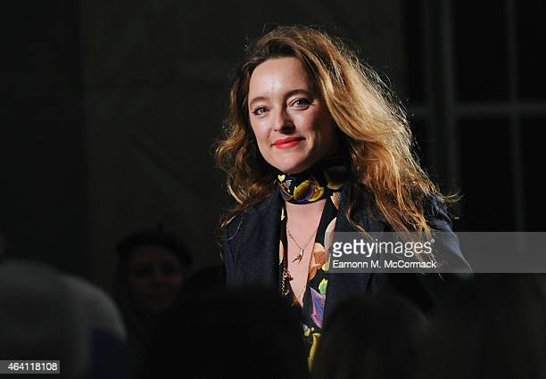 Designer Alice Temperley on the runway at the Temperley London show during London Fashion Week Fall/Winter 2015/16 at RIBA on February 22 2015 in...