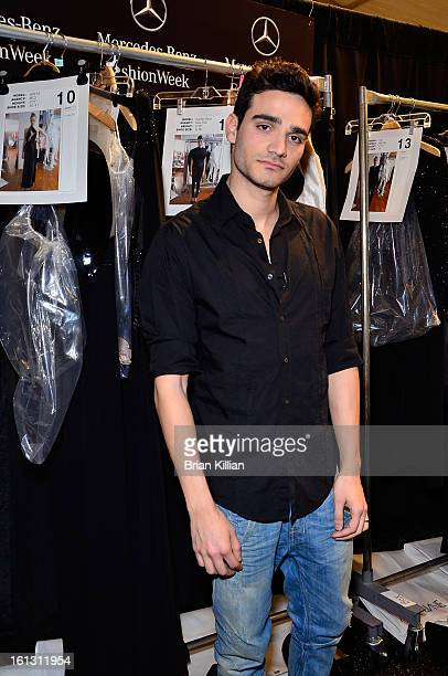 Designer Alon Livne attends the Alon Livne Presentation during Fall 2013 MercedesBenz Fashion Week at The Box at Lincoln Center on February 9 2013 in...