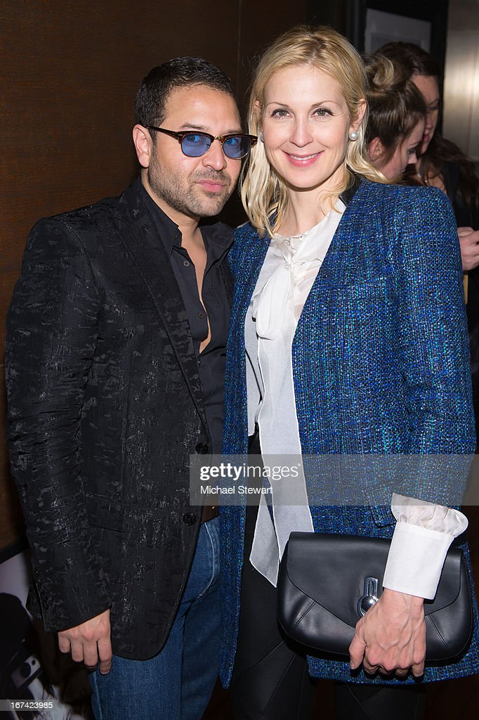 Designer Alvin Valley (L) and actress Kelly Rutherford attend Alvin Valley 'Belle De Jour' Intimate Dinner Party on April 24, 2013 in New York City.