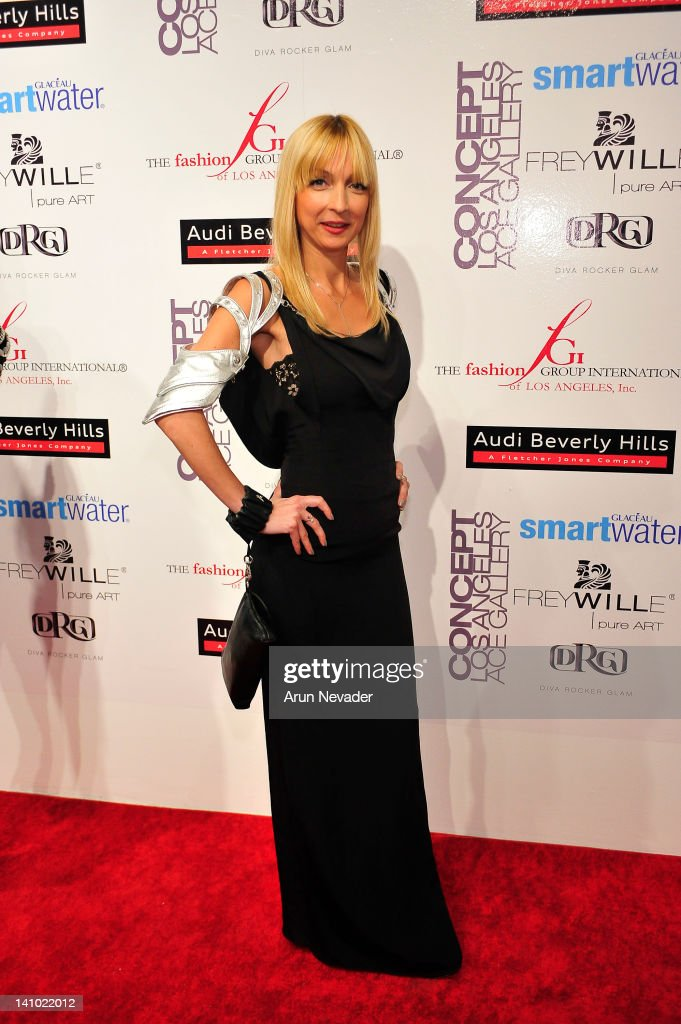 Designer Amalia Mattaor appears on the red carpet at 'Meet The Designer and the Muse' at Ace Gallery on March 8, 2012 in Los Angeles, California.