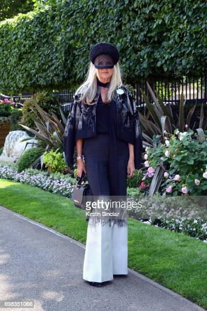 Designer Amanda Wakeley attends day 1 of Royal Ascot at Ascot Racecourse on June 20 2017 in Ascot England