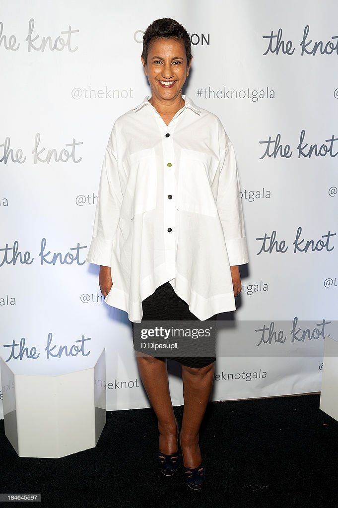 Designer Amsale Aberra attends The Knot Gala at the New York Public Library - Astor Hall on October 14, 2013 in New York City.