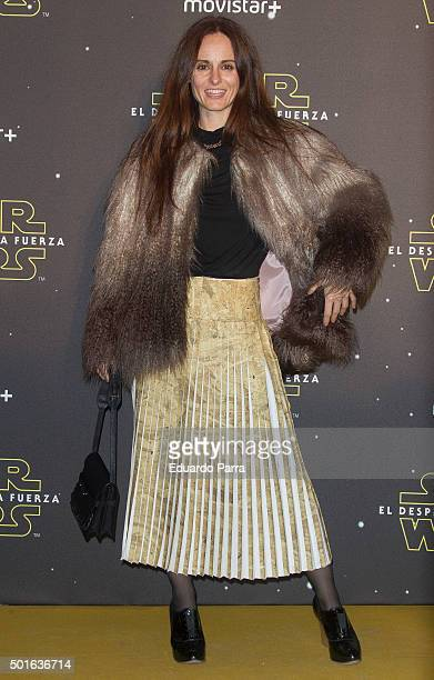 Designer Ana Locking attends 'Star Wars The Force Awakens' at Callao cinema on December 16 2015 in Madrid Spain