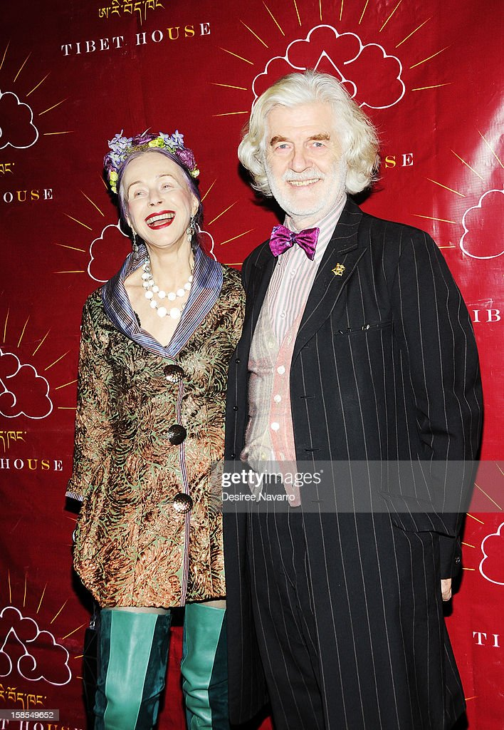 Designer and actress Beatrix Ost, and Ludwig Hutner attend the 10th annual Tibet House Benefit Auction at Christie's Auction House on December 18, 2012 in New York City.