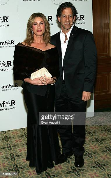 Designer and amfAR Vice Chairman Kenneth Cole with wife Maria Cuomo Cole attend the amfAR New York Gala on November 30 2004 at The Pierre Hotel in...