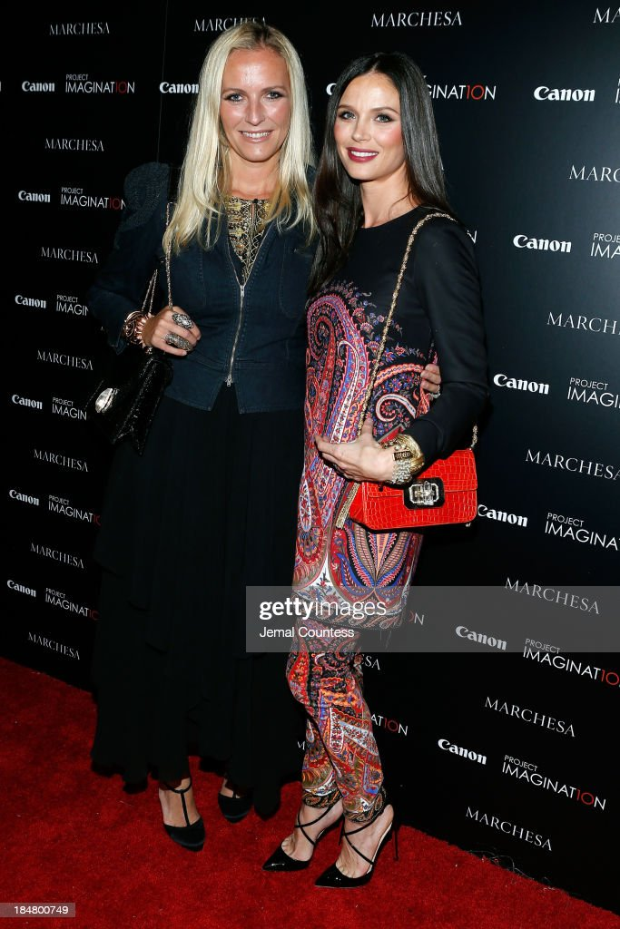 Designer and Co-Founder of Marchesa Keren Craig and Co-Founder of Marchesa and first time film director Georgina Chapman walk the carpet at Canon's Project Imaginat10n screening of 'A Dream of Flying,' a short film by Georgina Chapman at Crosby Street Hotel on October 16, 2013 in New York City.