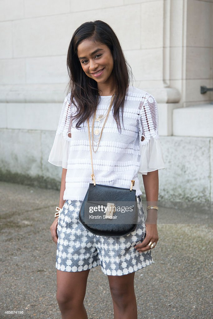 Designer and director Vashti Kola Valif wears all Chloe at the Chloe show on day 6 of Paris Collections Women on March 08 2015 in Paris France