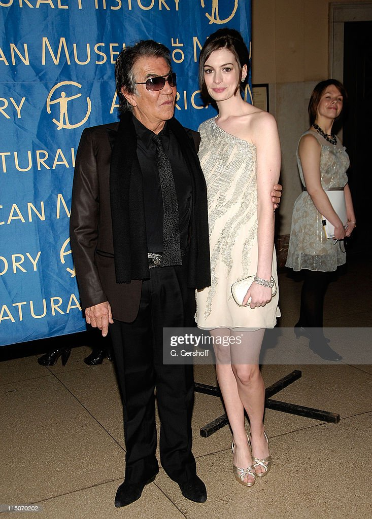 Designer and event honorary chair Roberto Cavalli and actress Anne Hathaway arrive to the American Museum of Natural History Winter's Dance at the...