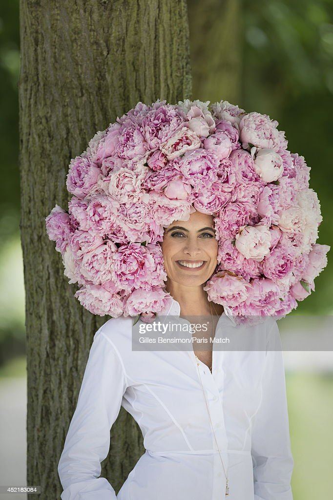 Designer and model Ines de la Fressange is photographed for Paris Match on June 23, 2014 in Versailles, France.