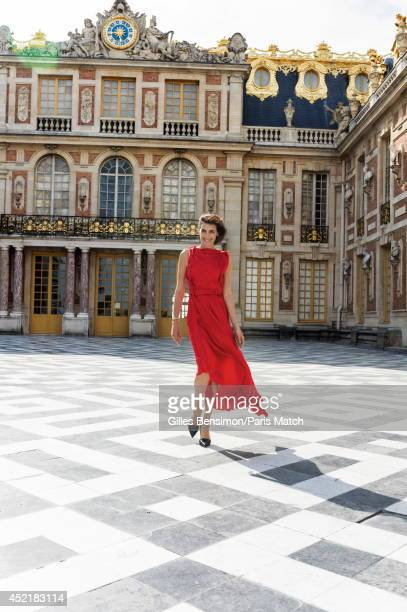 Designer and model Ines de la Fressange is photographed for Paris Match on June 23 2014 in Versailles France