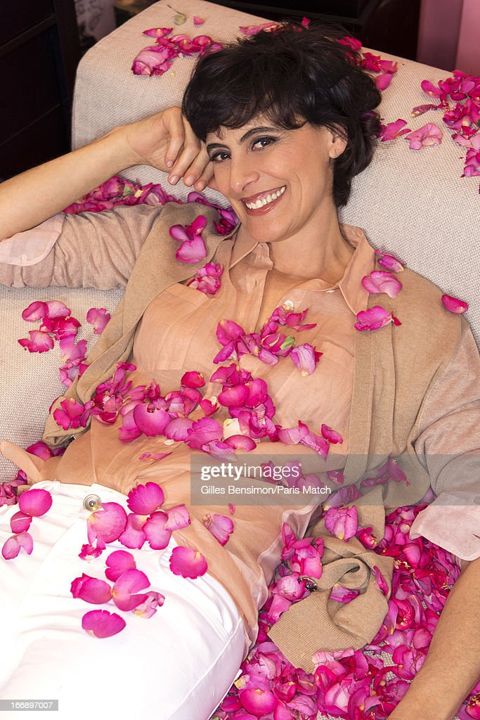 Designer and model Ines de la Fressange is photographed in her office at Roger Vivier for Paris Match on May 4, 2012 in Paris, France.