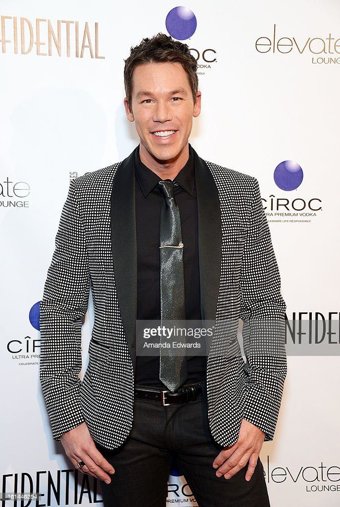 Designer and television personality David Bromstad arrives at the Los Angeles Confidential and Harmony Project GRAMMY after party honoring Mary J. Blige at Elevate Lounge on February 10, 2013 in Los Angeles, California.