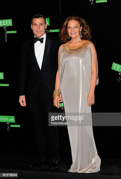 Designer Angel Schlesser and Diane Von Fustemberg arrive to the 2009 Telva Magazine Fashion Awards ceremony held at the Teatro del Canal on October...