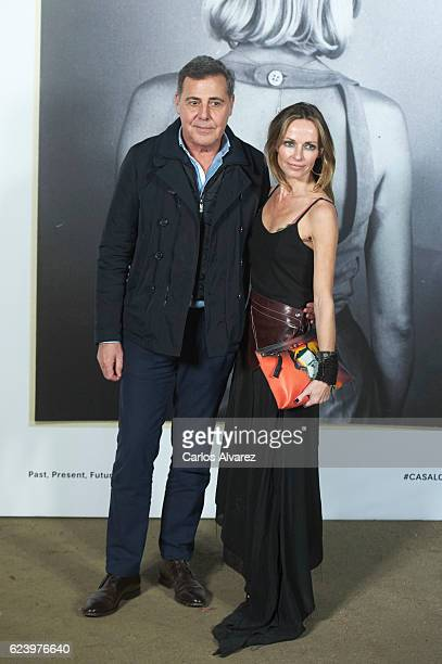 Designer Angel Schlesser and Sharon Corr attend 'LOEWE Past Present Future' exhibition at Jardin Botanico on November 17 2016 in Madrid Spain