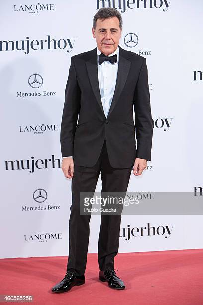 Designer Angel Schlesser attends 'Mujer Hoy' awards gala at Palace Hotel on December 16 2014 in Madrid Spain