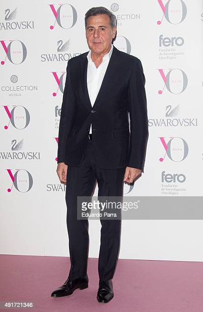 Designer Angel Schlesser attends the Pink Hope Dinner by Yo Dona and Swarovski at Eurobuilding hotel on October 7 2015 in Madrid Spain