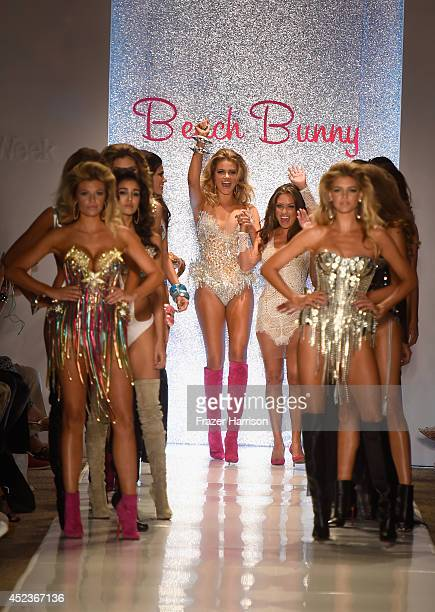 Designer Angela Chittenden and models walk the runway with TRESemme at the Beach Bunny Featuring The Blonds show during MercedesBenz Fashion Week...