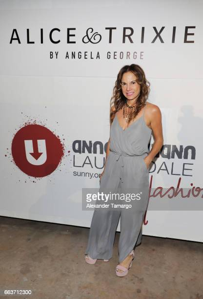 Designer Angela George attends Underground Lauderdale Fashion Weekend Brought To You By The Greater Fort Lauderdale Conventions Visitors Bureau And...