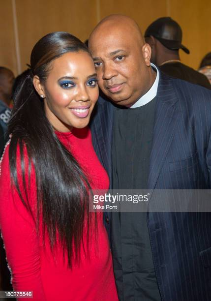 Designer Angela Simmons and HipHop legend Rev Run attend ShopAngelaiamcom by Angela Simmons Spring/Summer 2014 Collections at STYLE360 Fashion...