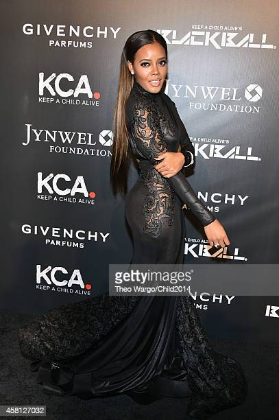 Designer Angela Simmons attends Keep A Child Alive's 11th annual Black Ball at Hammerstein Ballroom on October 30 2014 in New York City
