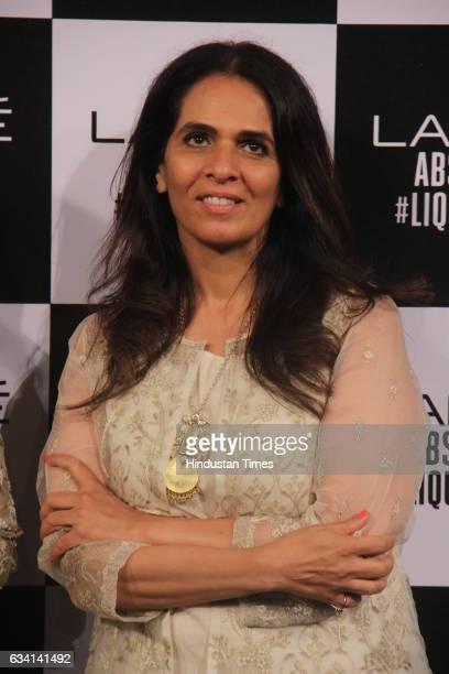 Designer Anita Dongre during her grand finale show at Lakme Fashion Week Summer/Resort 2017 at JIO Ground BKC on February 5 2017 in Mumbai India