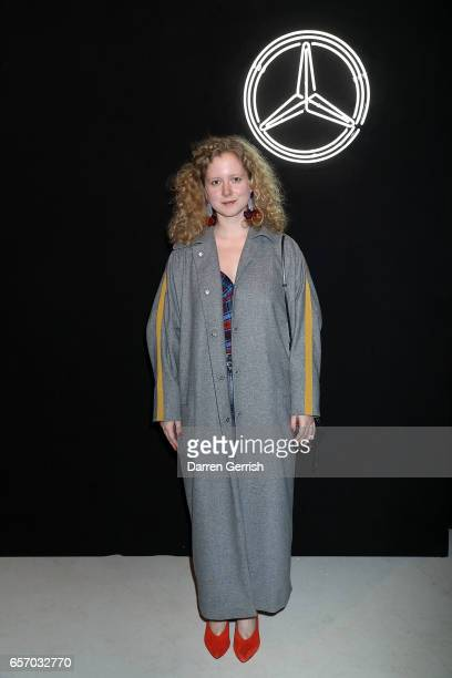 Designer Anna October attends the MercedesBenz #MBCOLLECTIVE Chapter 1 launch party with M I A and Tommy Genesis on March 23 2017 in London United...