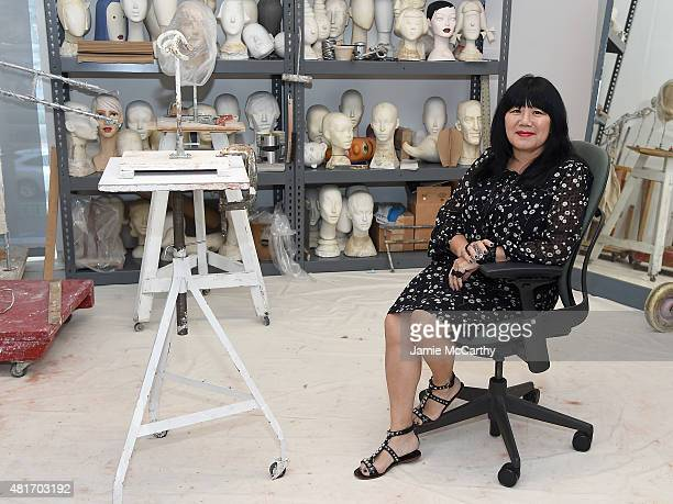 Designer Anna Sui attends Ralph Pucci The Art Of The Mannequin at Museum of Arts and Design on July 23 2015 in New York City