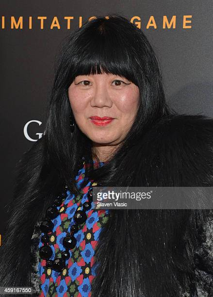 Designer Anna Sui attends 'The Imitation Game' New York Premiere at Ziegfeld Theater hosted by Weinstein Company on November 17 2014 in New York City