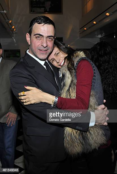 Designer Antonio Berardi and Cristina Ehrlich attends Private Antonio Berardi dinner on January 7 2014 in Beverly Hills California