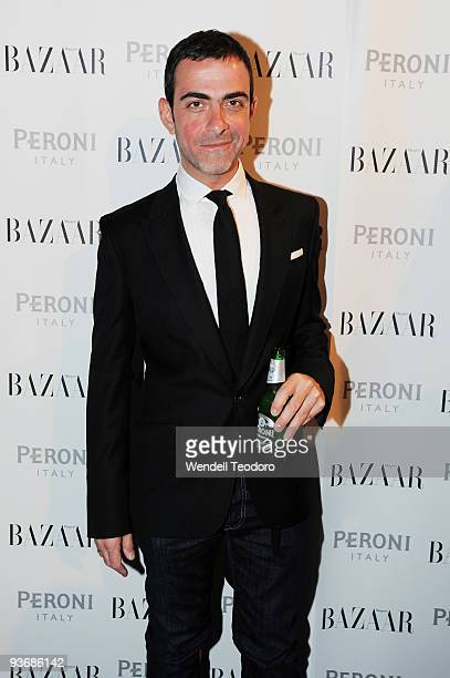 Designer Antonio Berardi arrives at the Peroni Young Designer of the Year Award celebration at the Museum of Contemporary Art on December 3 2009 in...
