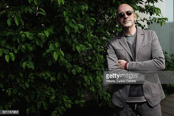 Designer Antonio Marras poses at the Elleit lounge during the Milan Design Week on April 14 2016 in Milan Italy