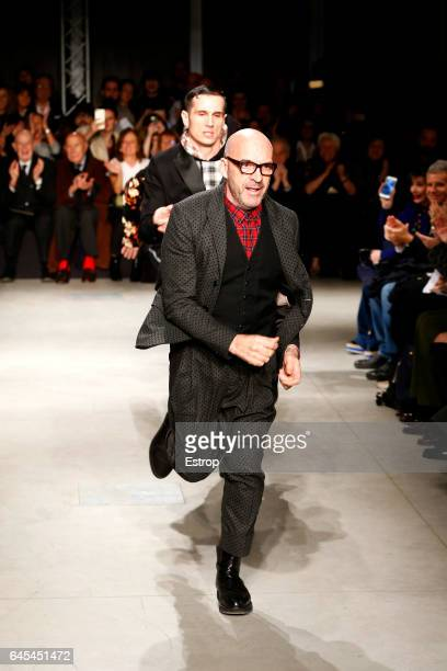 Designer Antonio Marras walks the runway at the Antonio Marras show during Milan Fashion Week Fall/Winter 2017/18 on February 25 2017 in Milan Italy