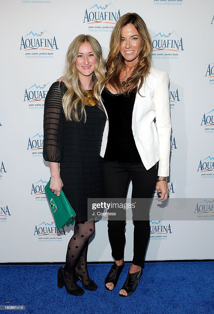 Designer Ashley Cooper and Reality TV personality/model Kelly Bensimon attend The Aquafina 'Pure Challenge' After Party at The Empire Hotel Rooftop on February 6, 2013 in New York City.