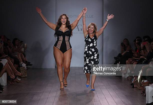 Designer Ashley Graham closes Addition Elle Presents Holiday 2016 RTW Ashley Graham Lingerie Collection show at Kia STYLE360 NYFW at Metropolitan...