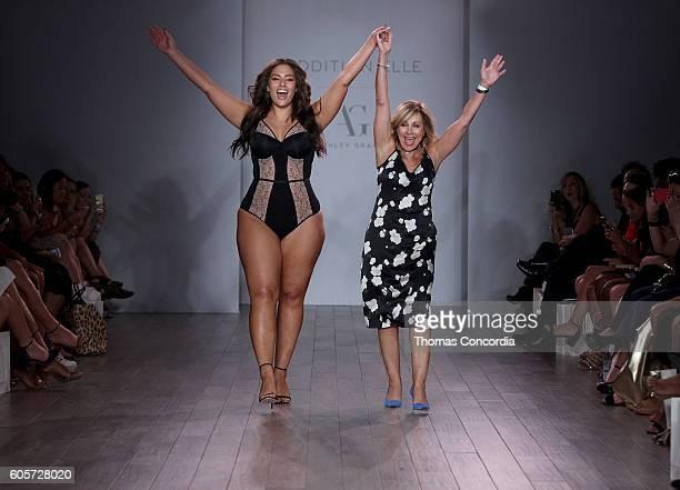 Designer Ashley Graham closes Addition Elle Presents Holiday 2016 RTW Ashley Graham Lingerie Collection show at Kia STYLE360 NYFW at Metropolitan...
