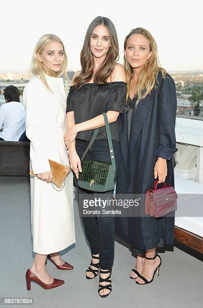 Designer Ashley Olsen actress Alison Brie and designer MaryKate Olsen attend Elizabeth and James Flagship Store Opening Celebration with InStyle at...