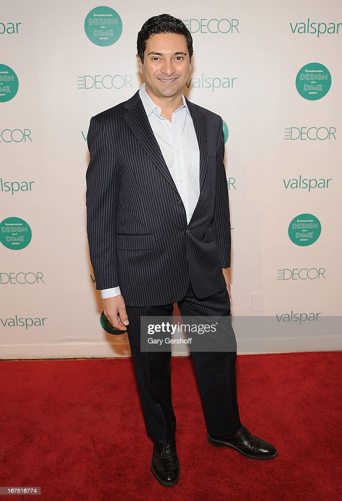 Designer Asler Valero attends Housing Works 9th Annual Design On A Dime Benefit at Metropolitan Pavilion on April 25, 2013 in New York City.